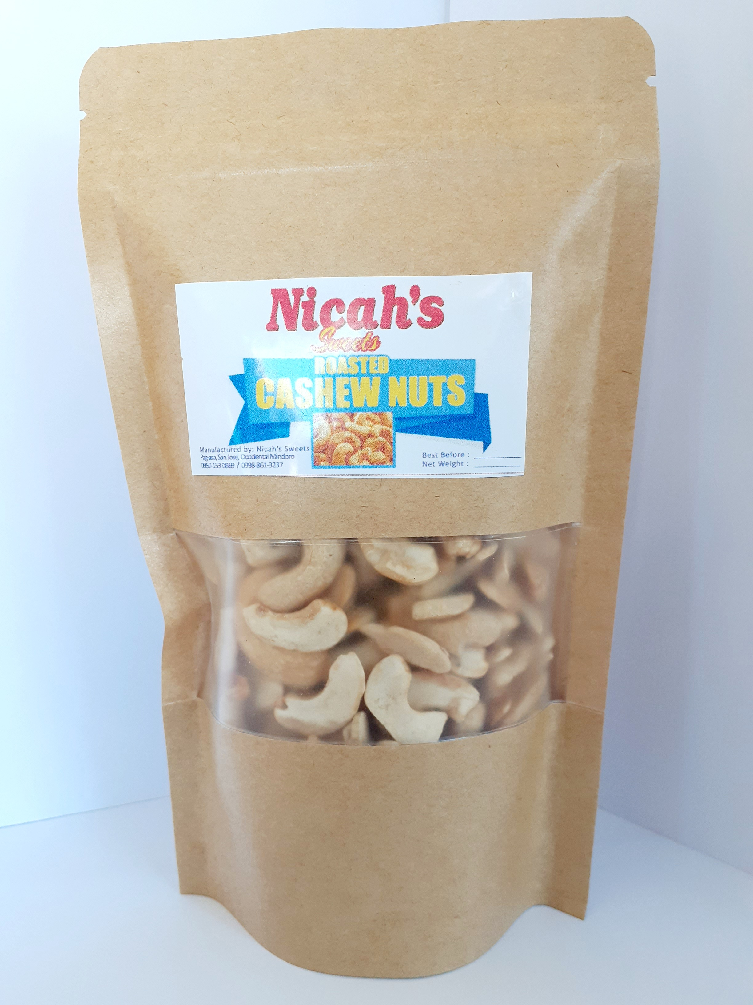 Nicah's Roasted Cashew Nuts (250g)