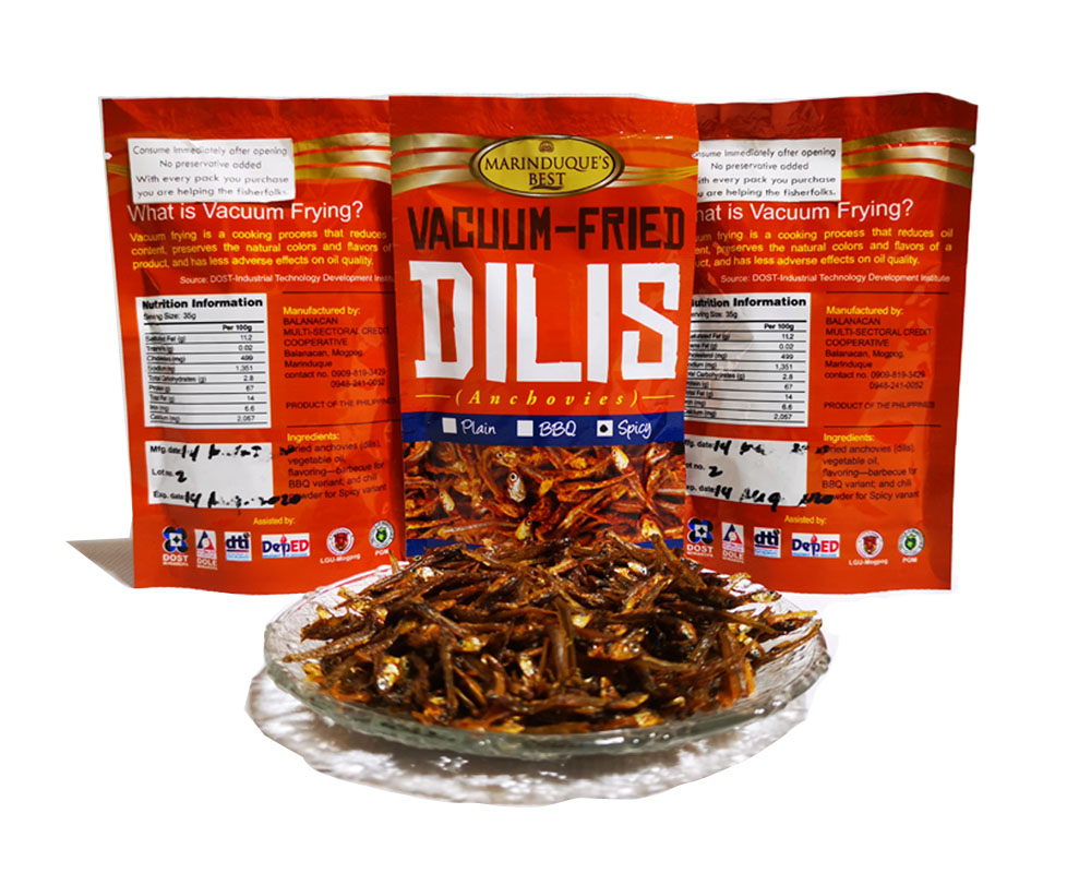 Vacuum fried dilis